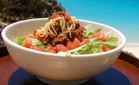 野菜たっぷりスパイシータコライス