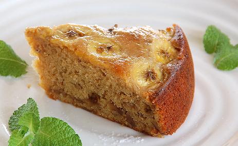 バナナとくるみのケーキ